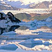 Alsek Glacier In St. Elias Mountains Art Print