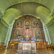 Altar In An Old Chapel Art Print