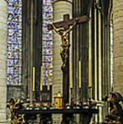 Altar Of Rouen Cathedral Art Print