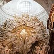 Altar Of St. Charles Church  - Karlskirche -  In Vienna Art Print