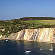 Alum Bay And The Coloured Sand Cliffs Art Print