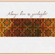 Always Kiss Me Goodnight Gold Art Print
