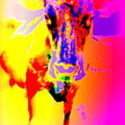 Lets Face It, You Are Dreaming Of A Fucking Amazing Cow Staring Right At You    Art Print