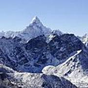 Ama Dablam Mountain Seen From The Summit Of Kala Pathar In The Everest Region Of Nepal Art Print