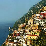 Amalfi Coast Hillside II Art Print