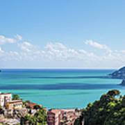Amalfi Coast Landscape Vietri Village Art Print