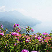 Amalfi Coast View From Ravello Italy  Art Print