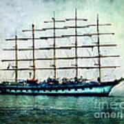 Amalfi Coast.royal Clipper  Art Print