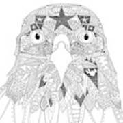 Amarican Eagle Black White Art Print