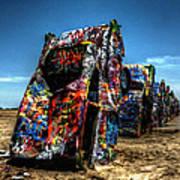 Amarillo - Cadillac Ranch 004 Art Print by Lance Vaughn