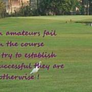 Amateur Golf  Art Print