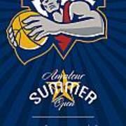 Amateur Summer Basketball League Open Poster Art Print by Aloysius Patrimonio