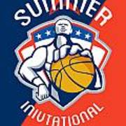 Amateur Summer Invitational Basketball Poster Art Print by Aloysius Patrimonio