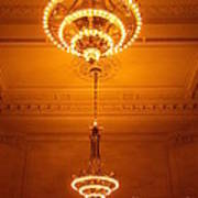 Amazing Antique Chandelier - Grand Central Station New York Art Print