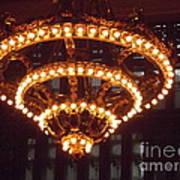 Amazing Art Nouveau Antique Chandelier - Grand Central Station New York Art Print