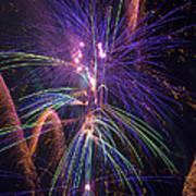 Amazing Beautiful Fireworks Art Print