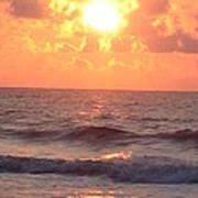 Amazing Golden Lavender South Carolina Sunrise Art Print
