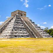 Amazing Mayan Pyramid At Chichen Itza Art Print