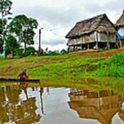 Amazon River Reflections-peru  Art Print