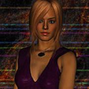 Amber Digital Portait Art Print