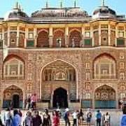 Amber Fort Entrance To Living Quarters - Jaipur India Art Print