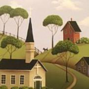 Amber Hills Art Print by Catherine Holman