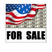 America For Sale Art Print