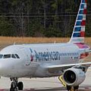 American Airlines A319 Art Print