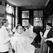 American Barbershop, C1900 Art Print