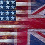 American British Flag Art Print by Garry Gay
