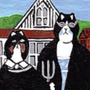 American Cat Gothic Art Print