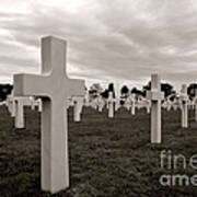 American Cemetery In Normandy  Art Print