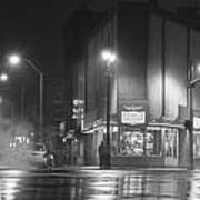 American Coney In Detroit Black And White Art Print