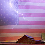 American Country Storm Art Print