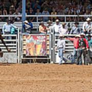 American Cowboy Bucking Rodeo Bronc Art Print