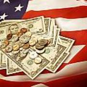 American Currency  Art Print by Les Cunliffe