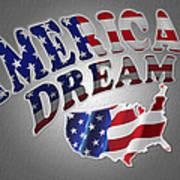 American Dream Digital Typography Artwork Art Print