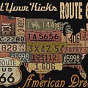 American Dream-route 66 Art Print