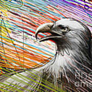 American Eagle Art Print by Bedros Awak