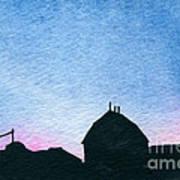 American Farm #1 Silhouette Art Print