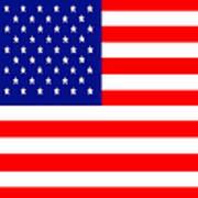 American Flag . Square Art Print