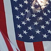 American Flag - 01131 Art Print
