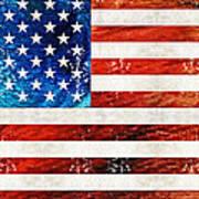American Flag Art - Old Glory - By Sharon Cummings Art Print