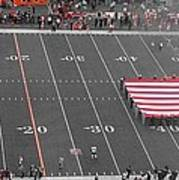 American Flag At Paul Brown Stadium Art Print by Dan Sproul