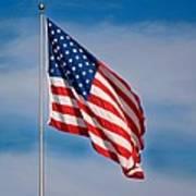 American Flag Art Print by Benjamin Reed