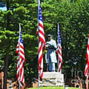 American Flag - Civil War Memorial -  Luther Fine Art Art Print by Luther Fine Art