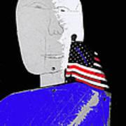 American Flag Collage Tucson Arizona Mid 1980's-2013 Art Print