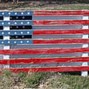 American Flag Country Style Art Print