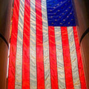 American Flag Art Print by Joann Vitali