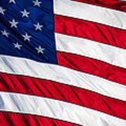 American Flag Print by Leslie Banks